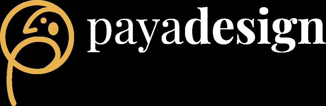 Logo payadesign yellow white